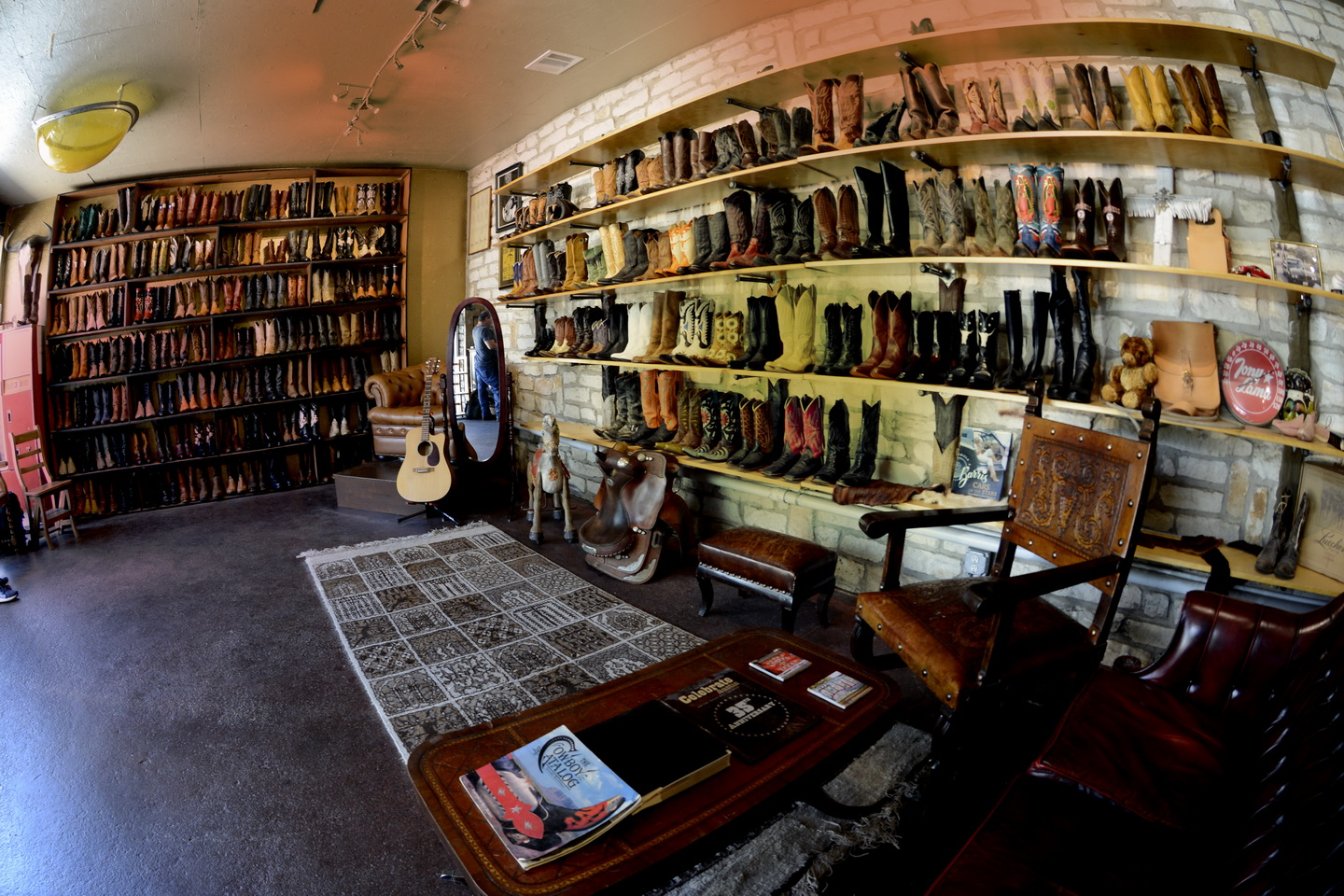 Texas custom boots shop full view